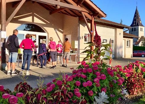Randonnée à Béréziat par la délégation de Montrevel-en-Bresse